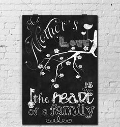 Chalkboard Print-Mother's Day-Dear by TimelessMemoryPrints on Etsy