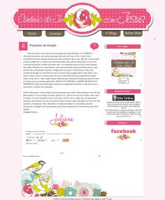 Cantinho do blog Layouts e Templates para Blogger: Encomenda Entregue Cantinho da Ju