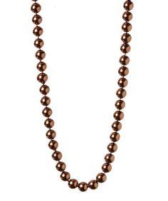 Look at this #zulilyfind! Brown Faux Pearl Necklace #zulilyfinds