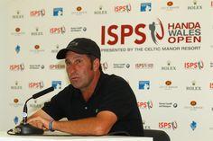 Conferencia de prensa del capitan Jose Maria Olazabal para dar inicio al ISPS Wales Handa open