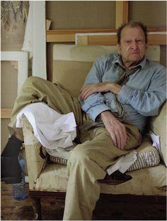 Lucian Freud in his Studio by David Dawson