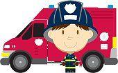 Camión de bomberos & Boy de bombero