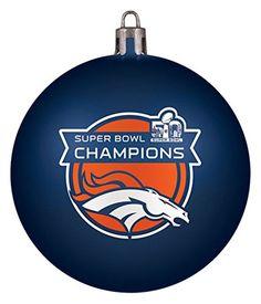 NFL Denver Broncos Super Bowl 50 Champions Shatterproof Christmas Ornament ** Click image to review more details.