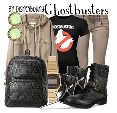 """Ghostbusters"" by leslieakay ❤ liked on Polyvore featuring Replay, Étoile Isabel Marant, Casio, Betsey Johnson and Disney"