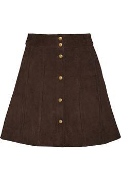 Frame Denim | Le Paneled suede mini skirt | NET-A-PORTER.COM