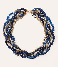 Image of Beaded Gem Twist Necklace
