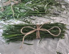DIY:  How to Repel Mosquitoes - with Dried Lavender Stems - tie with jute and let dry, then add to a campfire when needed + because the stems smell just as good as the flowers, put the bundles in baskets around your home and it will smell awesome! - via Centsational Girl