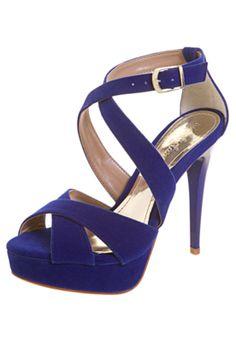 Sandália Veludo Azul - Compre Agora   Dafiti