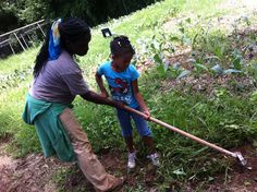 Working with Farmer Cici at Patchwork City Farms!