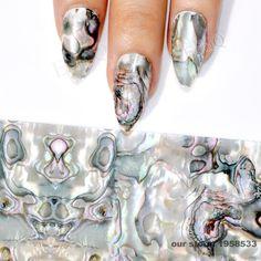 1 Roll 4*100CM Gradient Marble Designs Nail Foils Shell Style Foils Nail Art Transfer Foil Transfer Sticker GL43