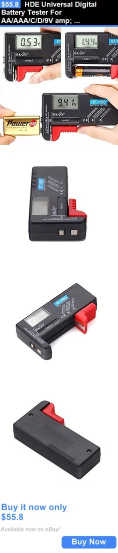 Battery Testers: Hde Universal Digital Battery Tester For Aa/Aaa/C/D/9V Amp: Mini Cell Batteries BUY IT NOW ONLY: $55.8