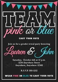 Ink Obsession Designs Gender Reveal Party Printable Invitations