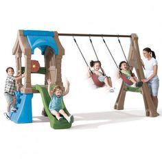 Walmart Flexible Flyer Fun Times Ii Metal Swing Set Home To Buy