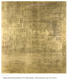"margadirube: "" blastedheath: Mathias Goeritz (German/Mexican Mensaje, Gold leaf on wood, 135 x 122 cm. Texture Metal, Leaf Texture, Gold Texture, Marble Texture, Photoshop, Gold Wallpaper, Fabric Wallpaper, Gold Material, Textures Patterns"