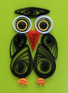 all things paper: Quilled Owl Card
