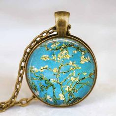 Van Gogh necklace  Almond blossom necklace  by starmekcreations, $14.00