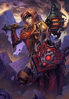 Blood Elf Paladin World of Warcraft Card Art by *Tonywash on deviantART