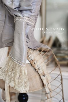 close up of a Victorian bodice