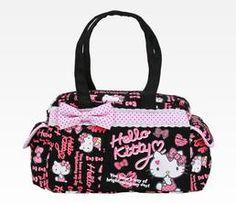 Hello Kitty Boston Bag: Black Ribbon