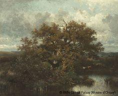 ules Dupré (1811-1889) Le chêne Entre 1860 et 1870 Huile sur toile H. 60 ; L. 75 cm © RMN-Grand Palais (Musée d'Orsay)