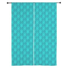 Curtains TEAL STARS by cafepress