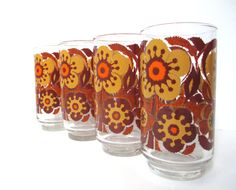 Retro Drinking Glasses  Set of Four Libbey by TheVintageResource, $24.25