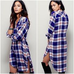Free People Rails Plaid Shirt Dress NWT NWT from Rails for Free People. This color combination sold out in less than 24 hours. Rails Maxi Buttondown Super soft plaid maxi buttondown top with long sleeves and high-low hem. Rounded hem with side vents.  100% Rayon Free People Dresses