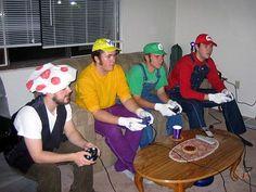home made mario kart costumes: toad got jipped man!:)