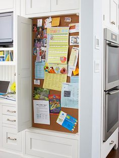 Keep your important papers all in one space, but out of sight for guests.