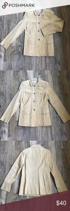 Leather Tan Blazer // Ann Taylor Lift Excellent condition.  Tan leather blazer.  Two exterior pockets. Jackets & Coats Blazers
