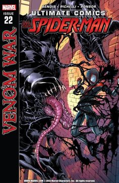 Ultimate Comics Spider-Man (Marvel) by Brian Michael Bendis and Sara Pichelli. Cover by Sara Pichelli and Rainier Beredo. Comic Book Characters, Marvel Characters, Comic Character, Comic Books Art, Comic Art, Book Art, Epic Characters, Marvel Villains, Character Design