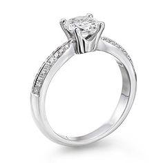 Solitaer Diamantring - Round mit Zertifikat 0.61 Karat, 18 Karat (750) Weißgold - http://schmuckhaus.online/5th-av-diamond-jewelry/solitaer-diamantring-round-mit-zertifikat-0-61-18