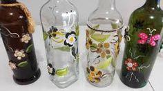 garrafas de biscuit decorados