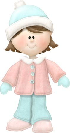 Girl Dressed for Snowy Winter Day Clip Art Winter Clipart, Christmas Clipart, Crafts With Pictures, Cute Pictures, Cartoon Girl Images, Clip Art, Cute Clipart, Craft Show Ideas, Christmas Illustration