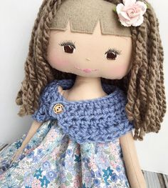 Sweet shades of lavender on this pretty SpunCandy Doll
