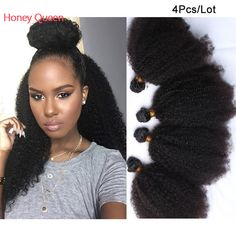 6A Bohemian Virgin Hair 4 Pcs 55Gram Unprocessed Bohemian Curly Hair Human Hair Weaves Bohemian Afro Kinky Curly Hair – Quality Hair Weaves – ShopAhoy.us