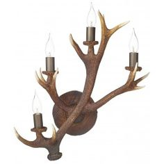 Antler 4 Light Wall Candelabra by david hunt lighting, www.darlighting.co.uk for stockists