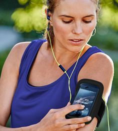 This adjustable neoprene armband holds your smartphone so you don't have to while working out