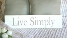'Live Simply' sign