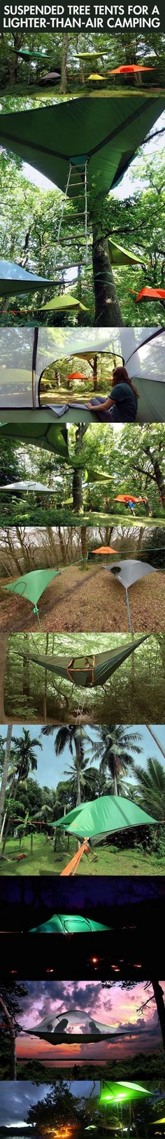 Tree tents....very cool very weird very interesting. What the hell supports your butt