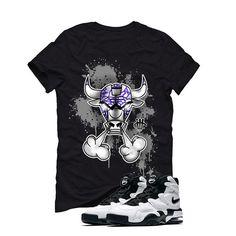 Nike Air Max 2 Uptempo 94 'White & Black' Black T (IRON BULL) Nike Air Max 2, Matching Shirts, Street Wear, Iron, Mens Tops, T Shirt, Clothes, Black, Fashion