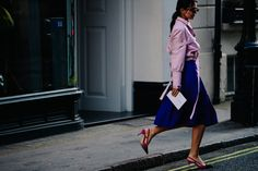 Street style during London Fashion Week on Friday, February 16th in London. Photo by Adam Katz Sinding for W Magazine.