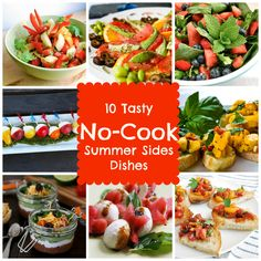 10 Tasty No Cook Side Dishes for your Next BBQ, all recipes are portable, can be served at room temp and made ahead of time! {Babble} #myhttender #outdoordining