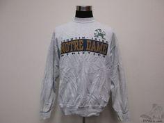 Vtg 90s Salem Notre Dame Fighting Irish Crewneck Sweatshirt sz XL Extra Large  #Salem #NotreDameFightingIrish