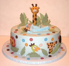 jungle baby shower cake pictures - Google Search