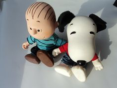 linus and snoopy stuffed dolls by peaceocake on Etsy, $25.00 #jenbnr