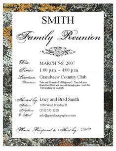 family reunion templates