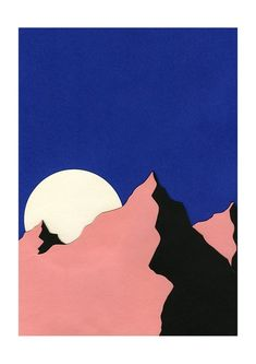 Death Valley Moon II by Rosi Feist as Canvas Print Simple Canvas Paintings, Easy Canvas Art, Small Canvas Art, Mini Canvas Art, Art And Illustration, Painting Inspiration, Art Inspo, Art Minimaliste, Kunst Inspo
