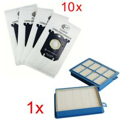 10x Vacuum Cleaner Dust Bags s-bag and 1x H12 Hepa filter fit for Philips Electrolux Cleaner Free Shipping