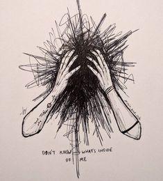 Sad Drawings, Dark Art Drawings, Pencil Art Drawings, Art Drawings Sketches, Dark Art Illustrations, Illustration Sketches, Art Du Croquis, Vent Art, Arte Obscura